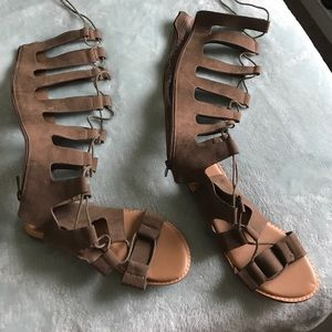 BAMBOO Shoes - Shoes NWT size 6 New never worn tie up sandal boot